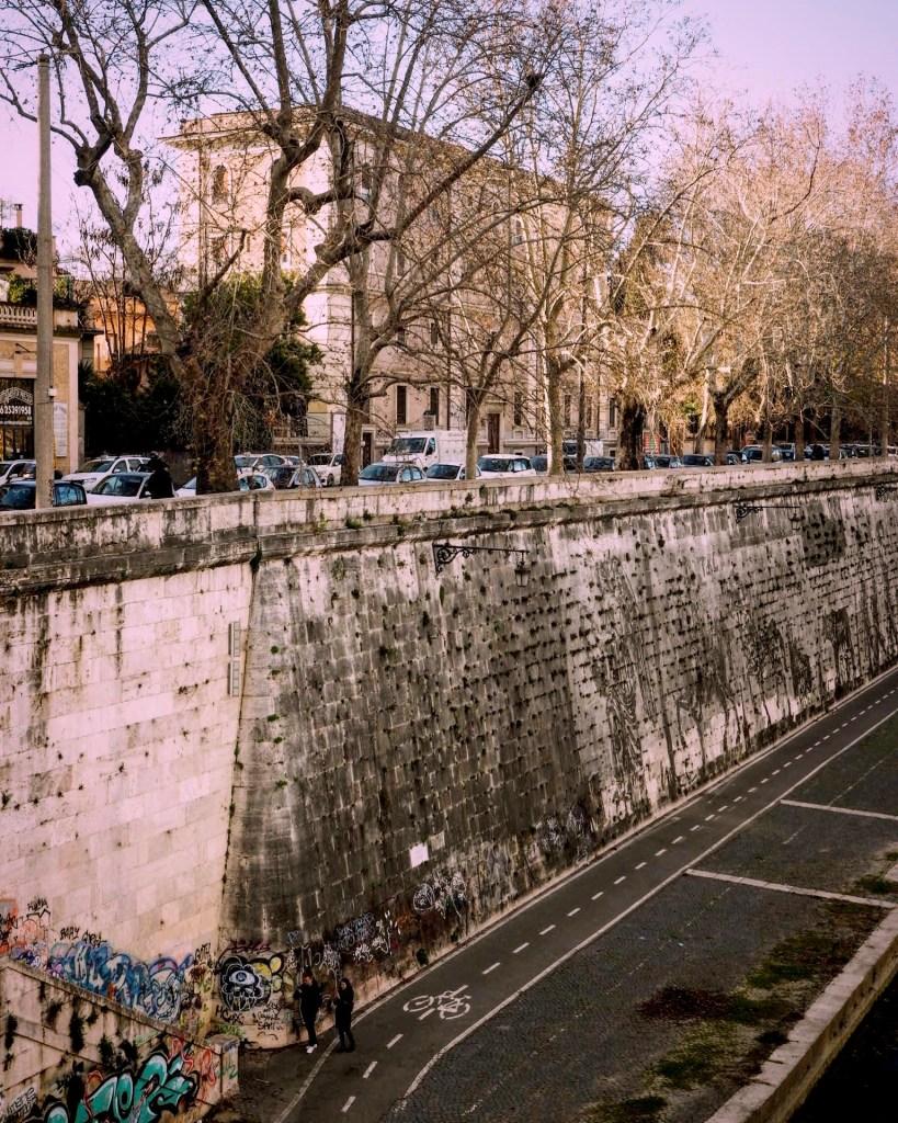 crossing the river Tiber