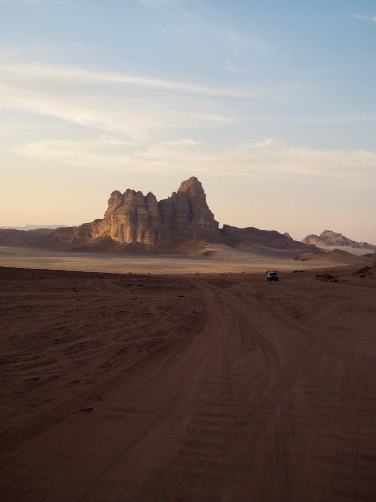 a mountain in the desert in Jordan