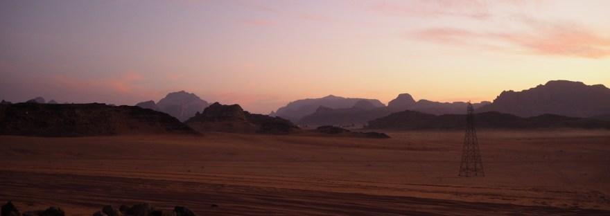 sundown on a jeep tour in Wadi Rum
