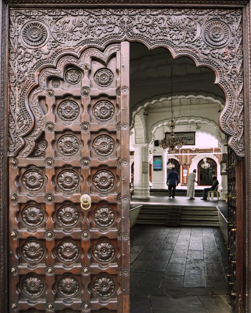 a stunning wooden door in Port Louis