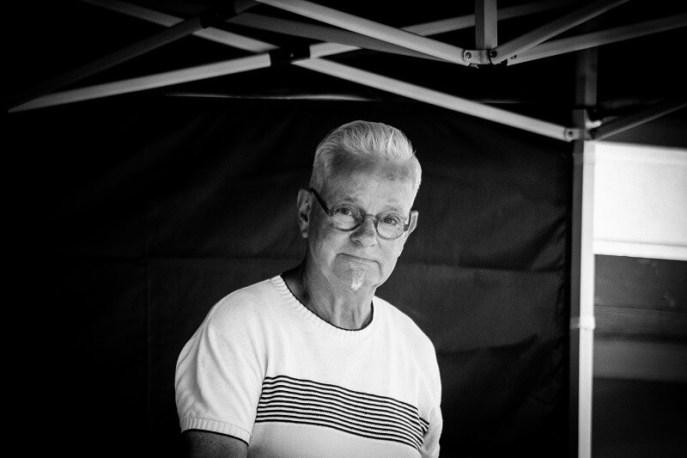 Attilio Koning tijdens het Rock and Roll Street Terschelling festival in september 2016.
