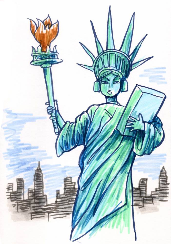 Sherry Trifle - Statue of Liberty