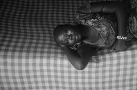 Kaddy Njie, Abdou's second wife take a rest.