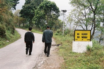 The headmaster of the school I worked at takes a stroll in Sikkim.