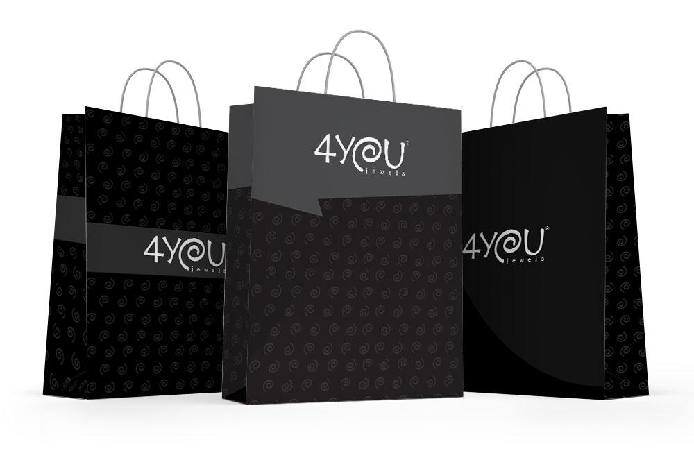 Creatività grafica packaging buste shopper 4You