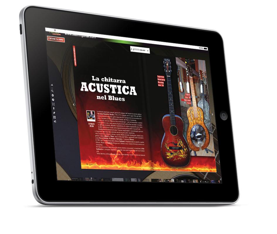 Impaginazione grafica rivista digitale Axe