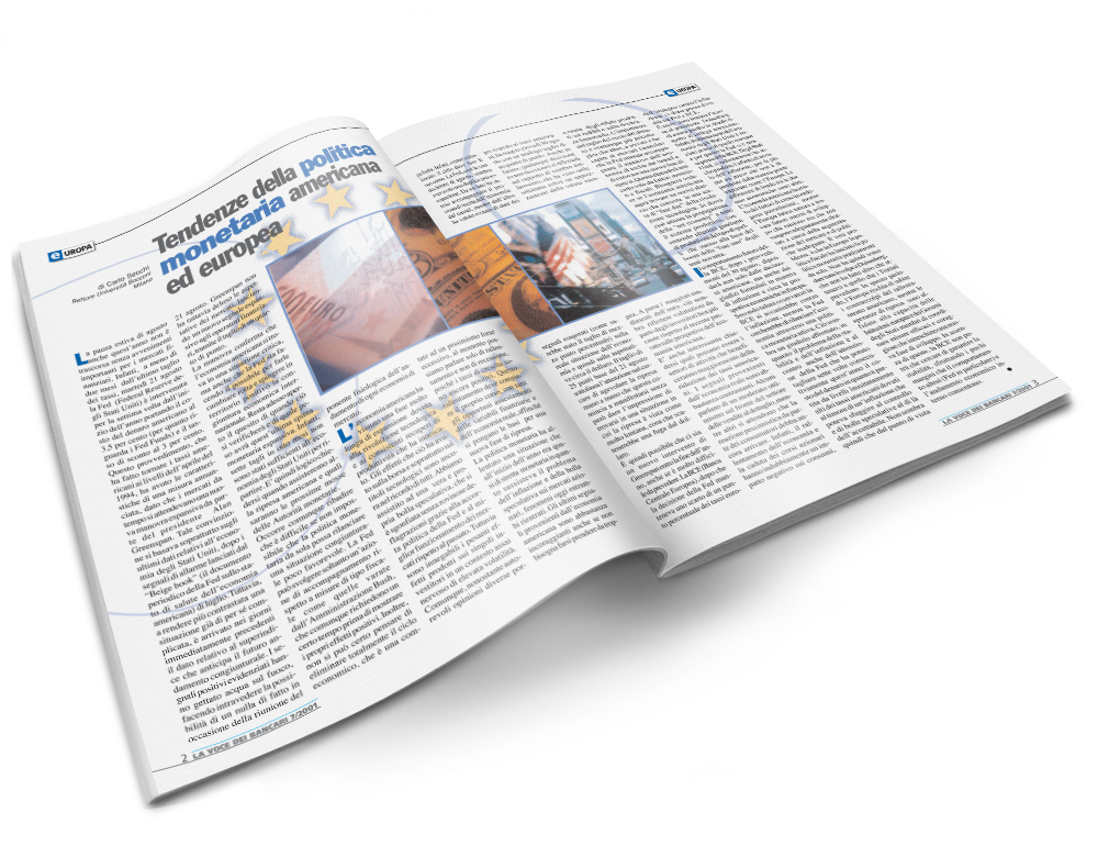Impaginazione grafica rivista La voce dei bancari
