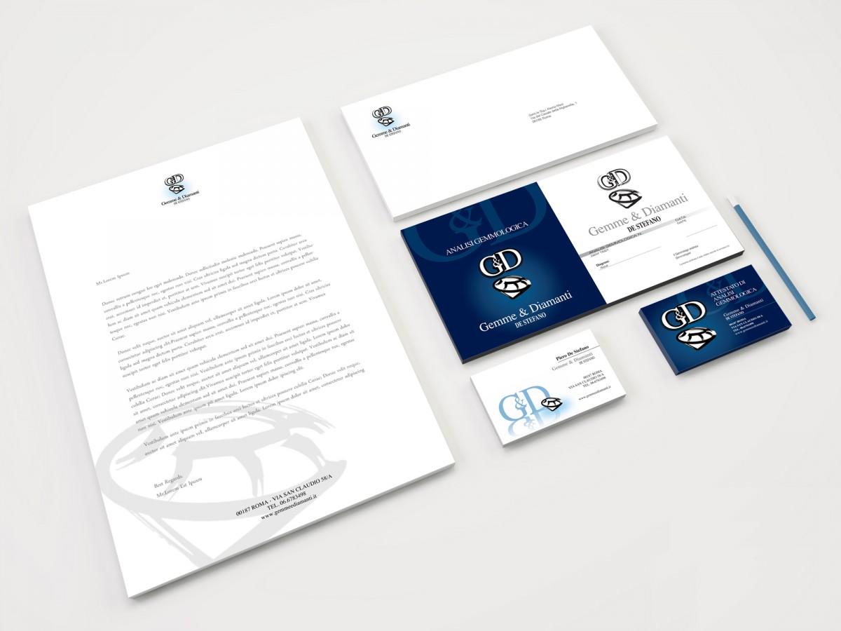 Progettazione logo marchio Gemme&Diamanti | alexiamasi.com