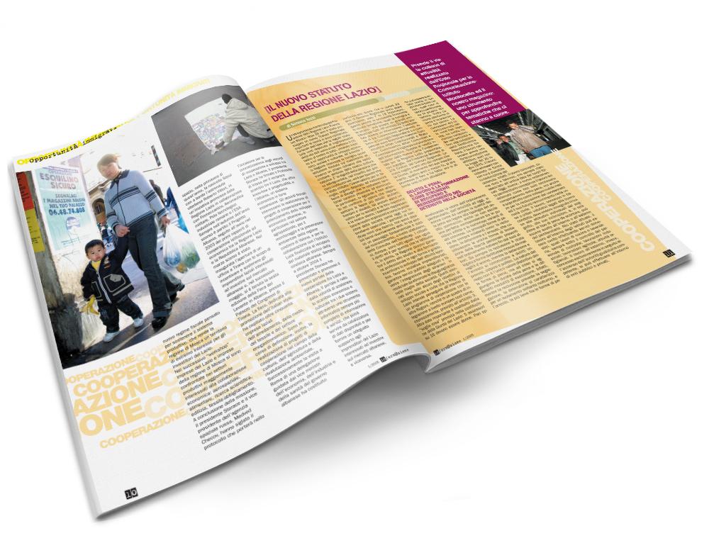Impaginazione grafica rivista Informazione