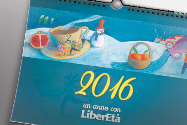 Progettazione grafica calendari LiberEtà