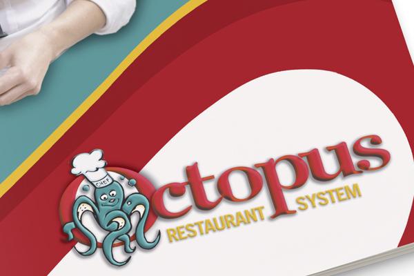 Progetto grafico impaginazione grafica brochure Octopus