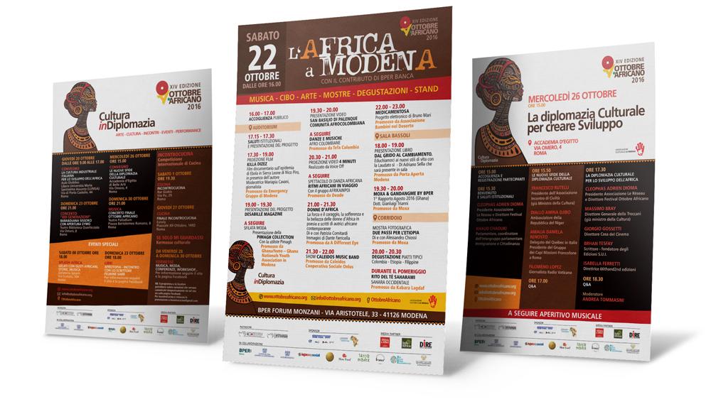 Creatività pubblicitaria eventi Ottobre Africano 2016