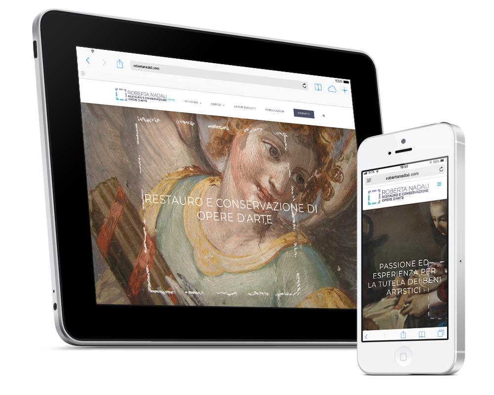 Realizzazione sito Roberta Nadali Restauratrice   alexiamasi.com
