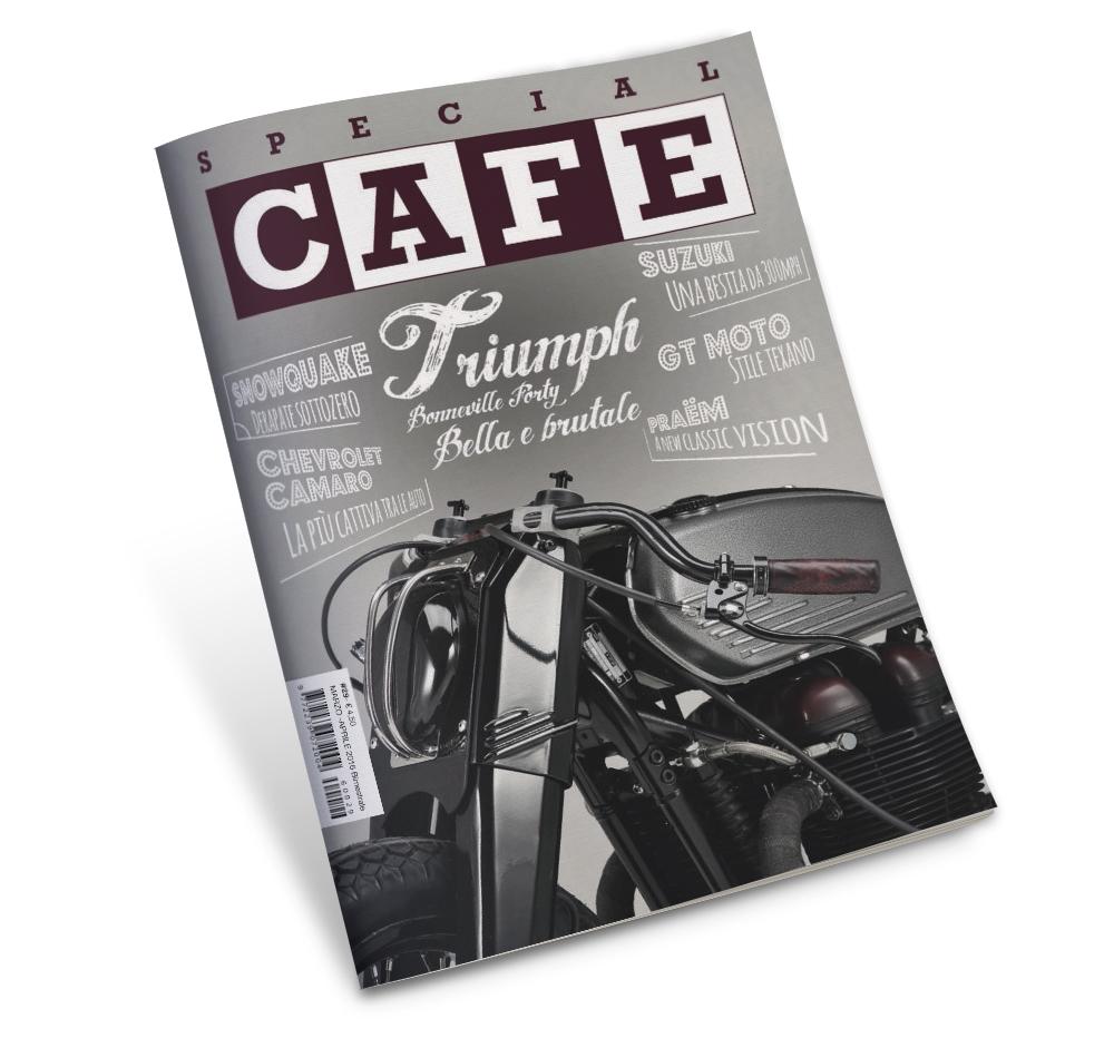 Impaginazione grafica rivista Special Cafe