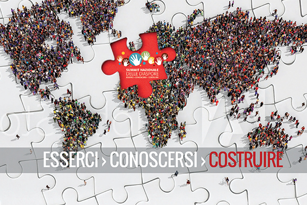 Grafica eventi Summit Nazionale delle Diaspore 2019 | alexiamasi.com