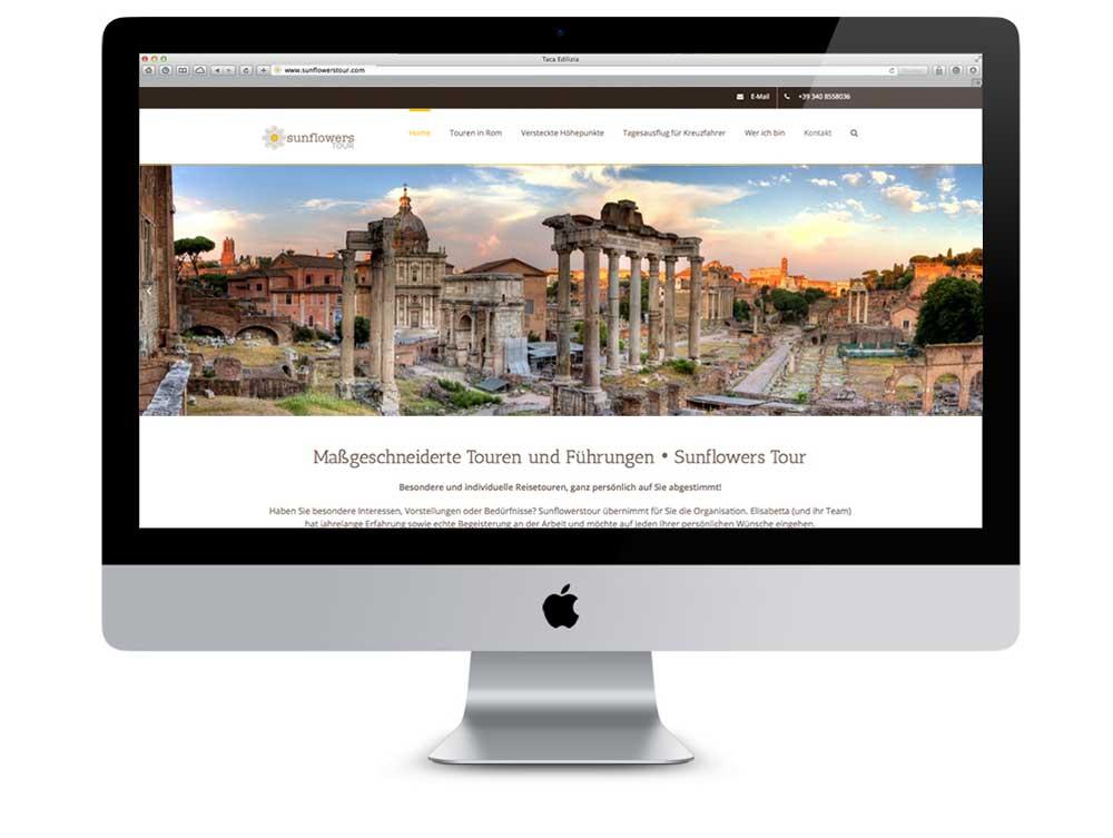 Realizzazione sito web multilingue Sunflowers Tour | alexiamasi.com