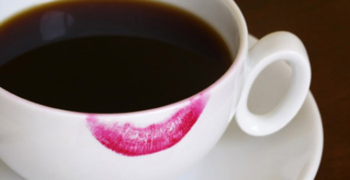 Lipstick Stain Coffee Cup Mug Beauty Makeup