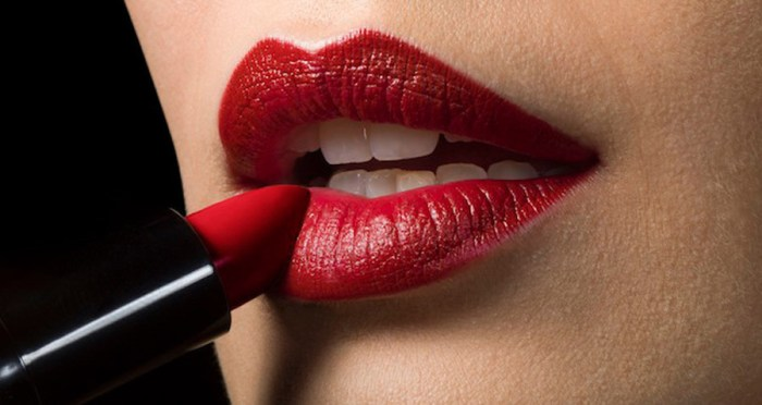 Red Lipstick How Wear Lips Make Up Apply Beauty