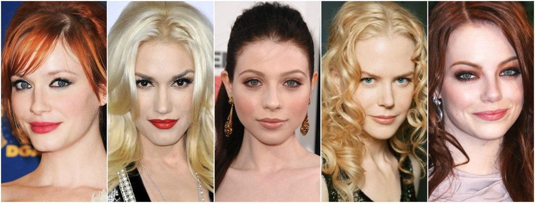pale celebrities light skin makeup inspiration
