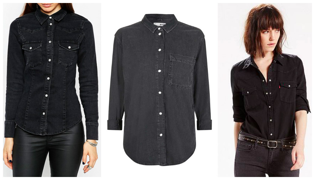 black denim shirts