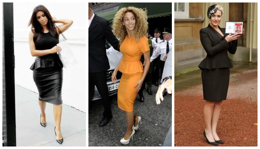 kim-kardashian-beyonce-kate-winslet-peplum-dresses