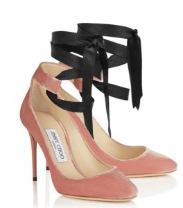 Jimmy Choo Ballet Pink Velvet Heels Rosana 100 £575