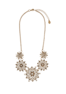 Miriam Pearl Flower Statement Necklace £22