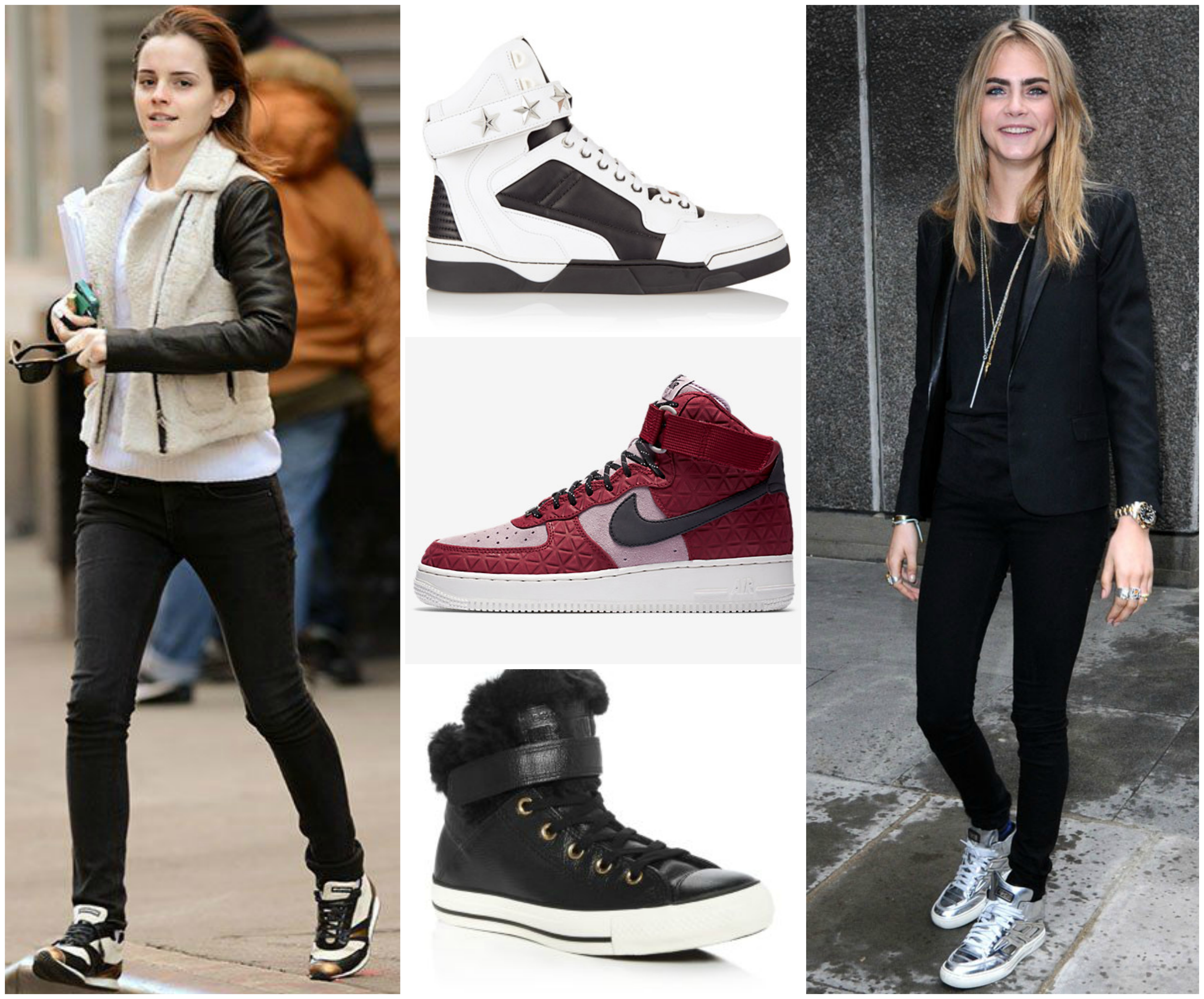 2019 year for lady- How to nike wear high top sneakers