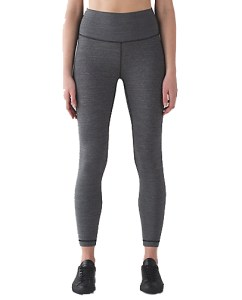 Lululemon Wunder Under Hi-Rise 7/8 Tight - Heathered Black £82
