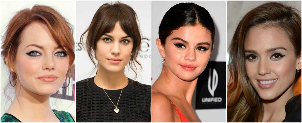 Celebrity Inspiration - Winged Eyeliner