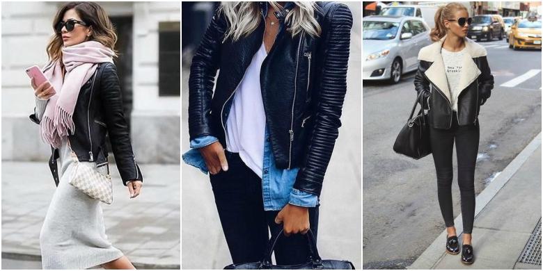 Black leather jacket body con dress scarf white t-shirt denim shirt black jeans aviator leather jacket