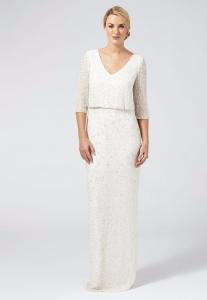Debenhams - Ben De Lisi Occasion - Ivory embellished 'Margerite' v-neck wedding dress