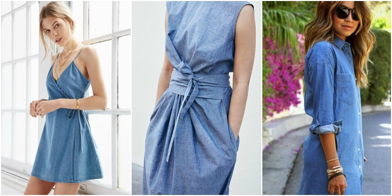 Denim Dresses trend 2017