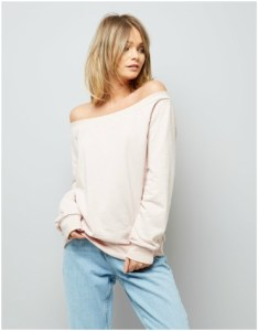 New Look Pink Bardot Neckline Sweater