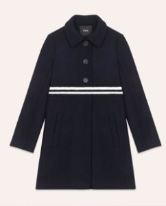 Maje Straight-Cut Coat in Wool and Cashmere