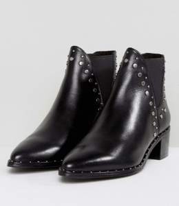 Steve Madden Doruss Leather Studded Boots
