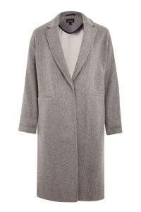 Topshop Bonded Knit Chuck Duster Coat - $125