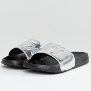 ASOS Superdry Chrome Pool Slide Flat Sandals
