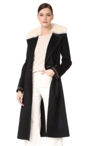 Shopbop Helmut Lang Shearling Collar Coat
