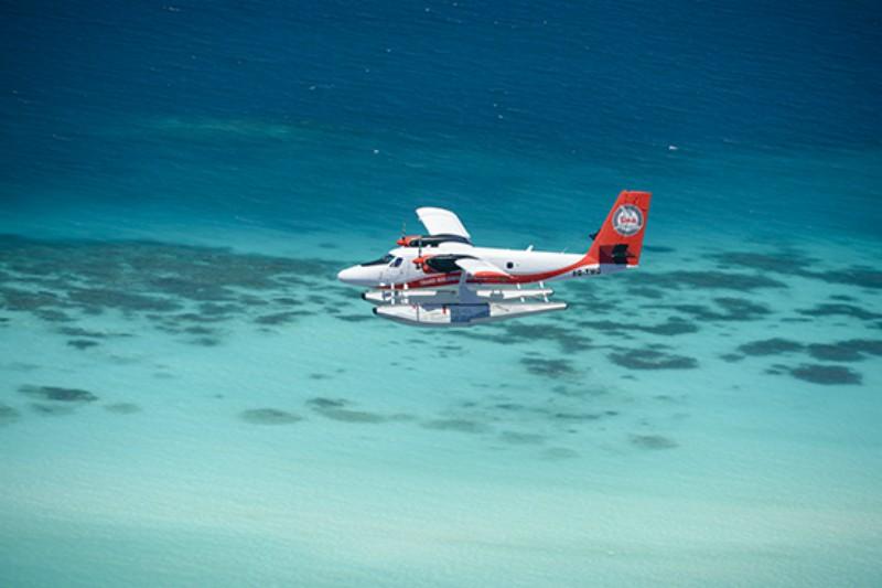 sea plane in the maldives