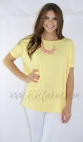 "<a href=""http://www.kikilarue.com/short-sleeve-piko-top-yellow/"" Short Sleeve Piko"