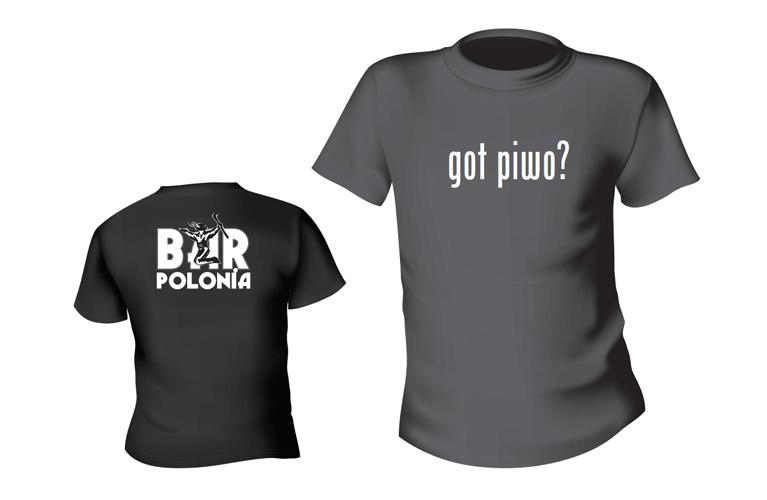 Bar Polonia T-shirt: Got piwo