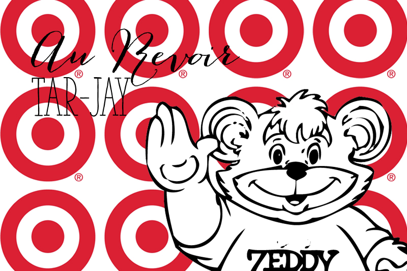 Zeddy Bear (Zellers), waving good bye to Target |Alex Inspired - a Canadian Perspective to Target's Closing - Au Revoir, Tar-Jay