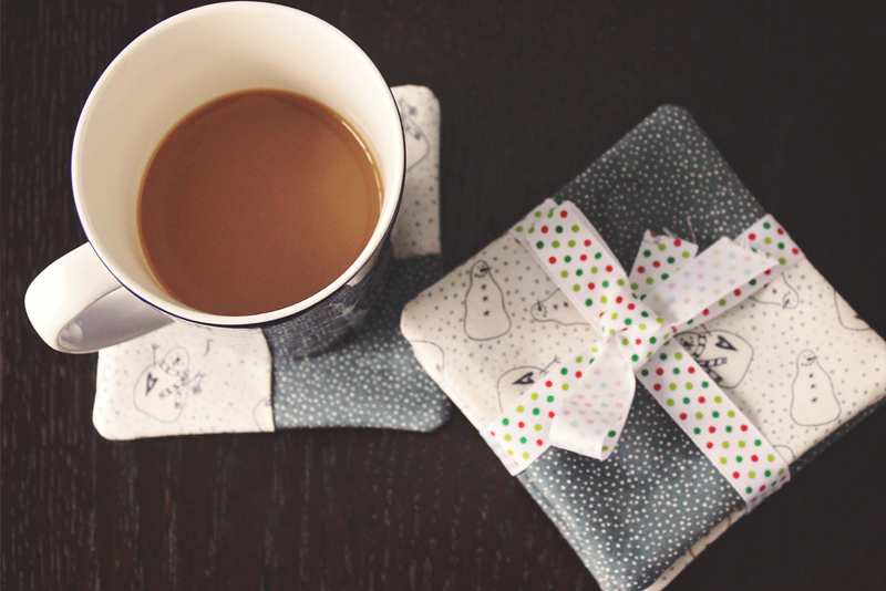 DIY Handmade Custom Fabric Coasters | Alex Inspired