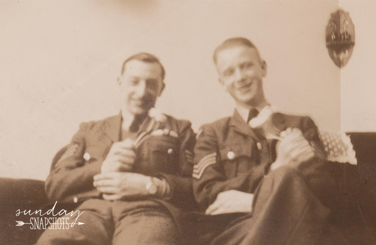 Pilots Harry & Stewie in Moncton 1943, Photo by Glenna Hare | Alex Inspired