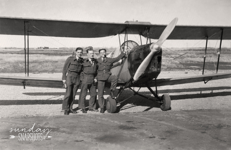 Three Blokes and a Tiger Moth, 1943 photo by Glenna Hare | Alex Inspired