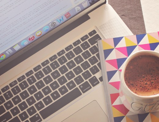 Is your Blog Accessible!? (Laptop, coffee and notebook on desk) | Alex Inspired