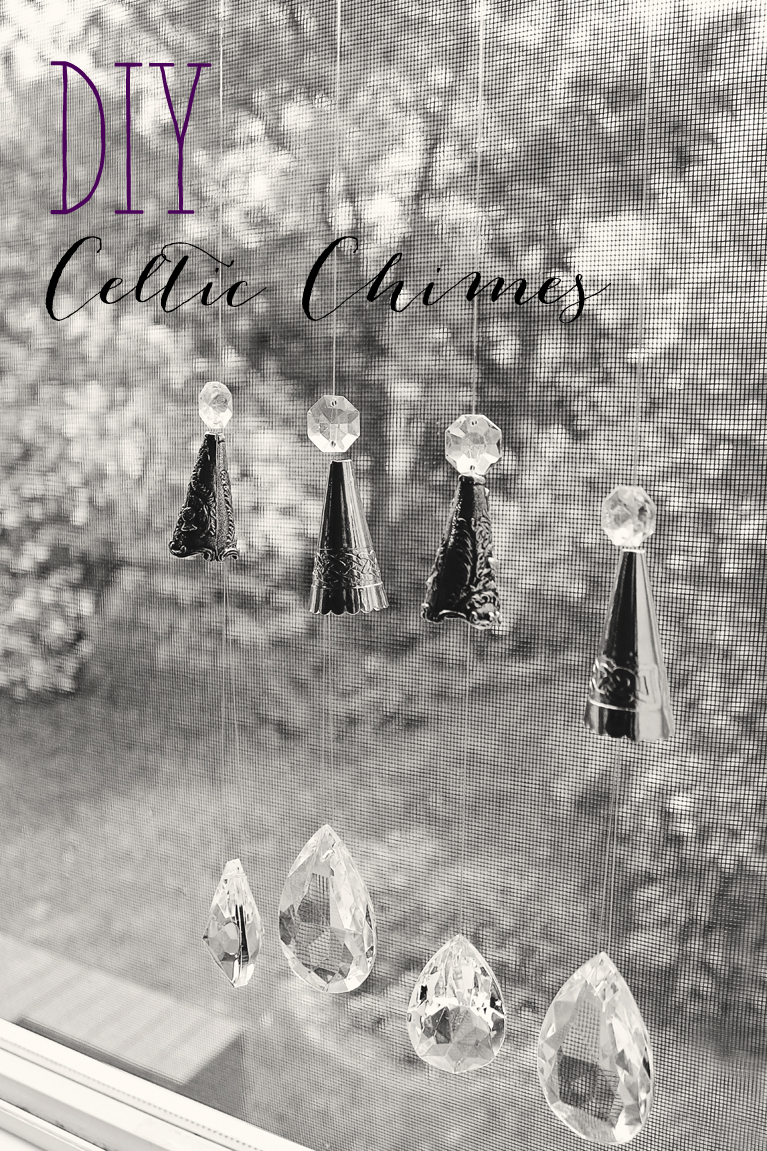 DIY Celtic Chimes hanging from window | Alex Inspired