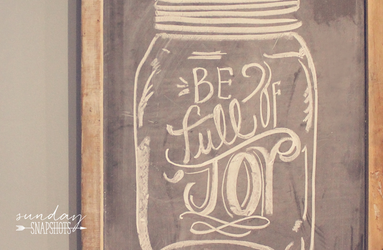 "Chalkboard ""Be Full of Joy"" In the Kitchen 