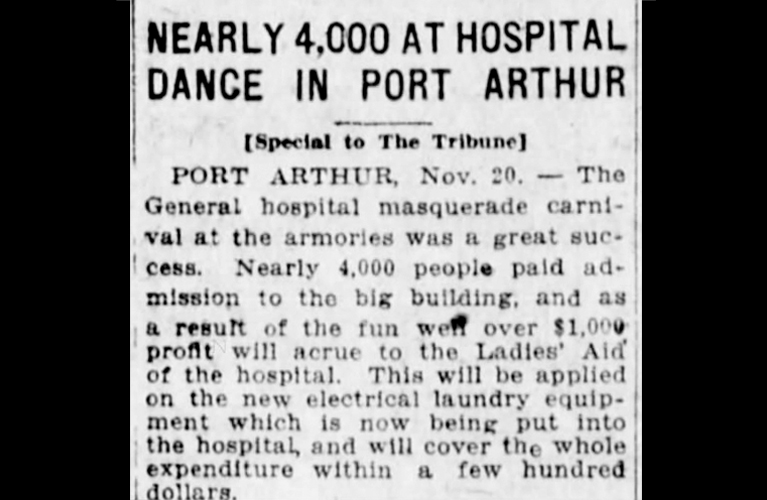 Nearly 4,000 Dance for Hospital Funds - Railway Marine and General Hospital Port Arthur